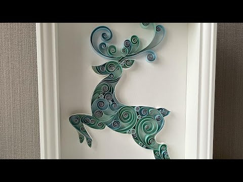Christmas gift ideas | Christmas DEER | QllArt tutorial | Quilling Pattern | Paper Quilling Art
