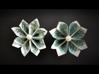 My MONEY FLOWERS | Easy Dollar Origami | Decoration for Graduation Lei | Tutorial DIY by NProkuda