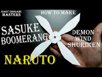 How to make a Sasuke shuriken out of paper. Demon Wind Shuriken. Design by - (Easy Origami Masters)