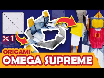 How to make a Transforming Autobot OMEGA SUPREME Origami Transformer - ROCKET BASE