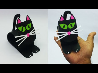 Easy Origami Cat | How to make a paper Cat? | Halloween Special Cat | DIY Paper Crafts