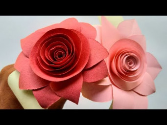 How to make beautiful flowers with paper - making paper flowers step by step - diy paper flowers
