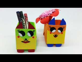 Origami Pen Holder | How To Make Pen Stand | Paper Pencil Holder For School | Hexagonal Pen Holder
