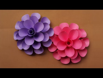 Beautiful Paper Flowers Making Instruction for Wall Decoration/Room Decor/Home Decor
