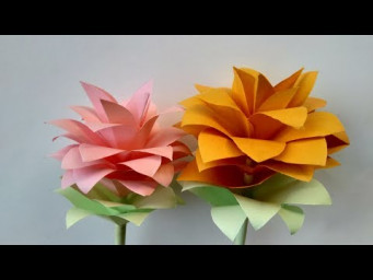 How to make a paper flowers _ paper flowers design and paper cutting flowers beautiful flowers