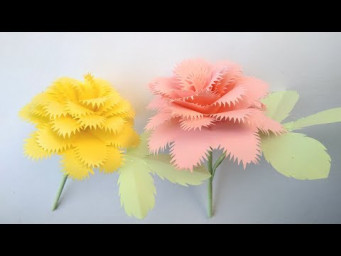 How to make a paper flowers - round flowers design and Rose paper crafts