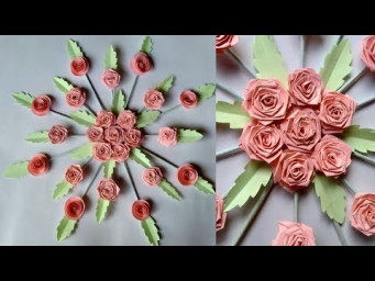 How to make easy  - Paper wall hanging  home decorations  - Paper craft