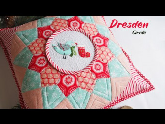 Sewing from squares. Quick and easy. Patchwork Dresden plate Circle & embroidery.