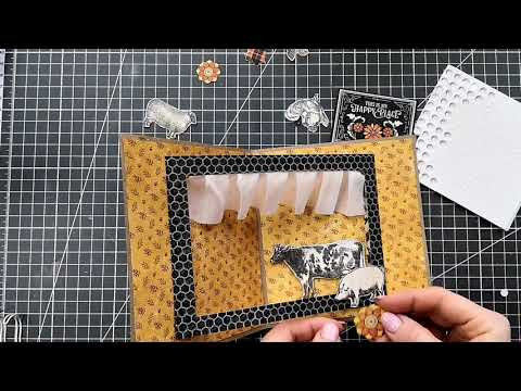 Graphic45 Farm house pop up card tutorial