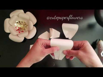 "Template 11 mini paper flower 8"",  diy paper flowers"