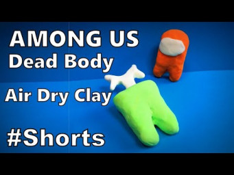 How to Make AMONG US 3D Dead Body with Air Dry Clay DIY | Easy Origami ART #Shorts