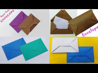 Envelope Making Ideas | Paper Envelope Easy Making Tutorial At Home | DIY Handmade Crafts