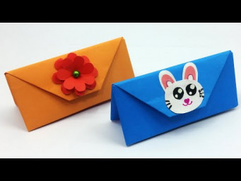 How To Make Paper Handbag / How To Make Paper Gift Bag? Origami Purse Tutorial / DIY School Crafts