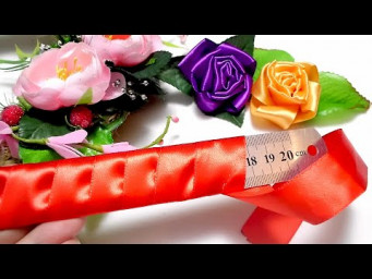 Super Easy Ribbon Flower Making - Hand Embroidery Flower Trick - DIY Craft Ideas