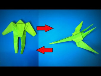 Origami Transformer | How to Make a Paper Transformer Airplane Fighter Jet | Easy Origami ART