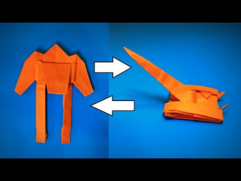 Origami Transformer | How to Make a Paper Transformer Rocket Launcher | Easy Origami ART
