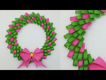DIY Paper Wreath for Christmas Decorations Ideas | How to Make Paper Christmas Wreath