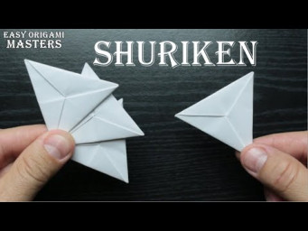 How to make a shuriken out of paper  Origami shuriken