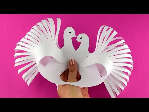 How to make a beautiful paper bird dove easy. Tutorial step by step for beginners