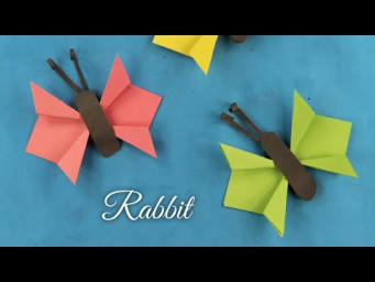 Easy Paper Origami Butterfly DIY - Step by Step Cute & Easy Butterfly Origami for Beginners