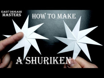 How To Make Shuriken. Origami. Ninja Weapon.