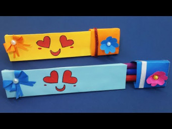 Paper Pencil Box | Easy Origami Box Tutorial | How to Make a Pencil Box |  DIY School Craft