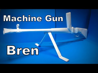 Origami Gun | How to Make a Paper Machine Gun Bren DIY | Easy Origami ART Paper Crafts
