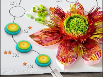 3D Fall flower for Paper Mingle game