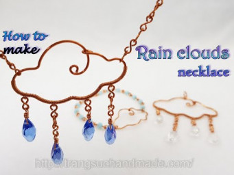 Necklaces, bracelets rain clouds - the jewelry set after the storm the sun will shine again 536