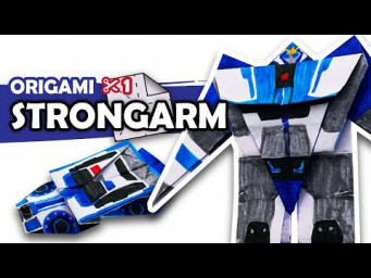 How to make a Transforming AUTOBOT STRONGARM Origami Transformer