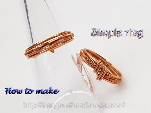 Ring use Basic Wire Weaving techniques - Jewelry for both men and women 507