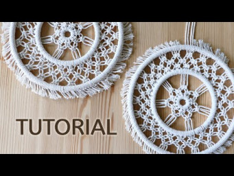 CIRCULAR MACRAME USING SQUARE KNOTS | DIY DREAMCATCHER | WHEEL | EASY ROOM DECOR