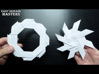 How to make a chakram shuriken out of paper Origami