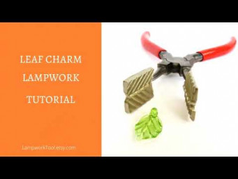 How to make lampwork leaf bead. Lampwork leaf bead tutorial.