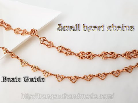 Small heart chains can be used as bracelets, anklet or necklaces - Basic Guide 515