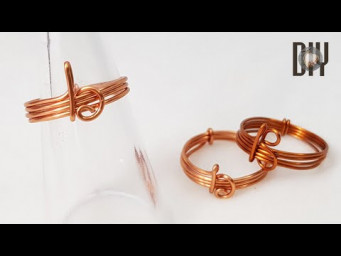 Letter B | Rings | Letters | Simplicity | How to do | Wire jewelry | DIY 584