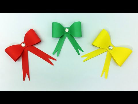Easy Paper Bow | How To Make Bow With Color Paper | Christmas Bow Tutorial
