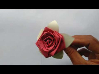 How to make a paper flowers - paper art and flowers design पेपर फ्लावर आईडिया