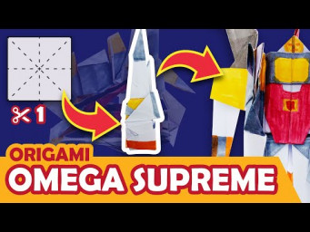 How to make a Transforming Autobot OMEGA SUPREME Origami Transformer - ROCKET