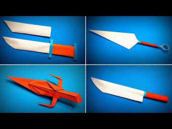Origami Knife | How to Make a Paper Knife / Kunai Naruto Tutorials | Easy Origami ART Paper Crafts