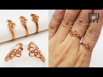 Eternity Knot Rings | celtic style | How to do | Handmade | Copper wire | DIY 576
