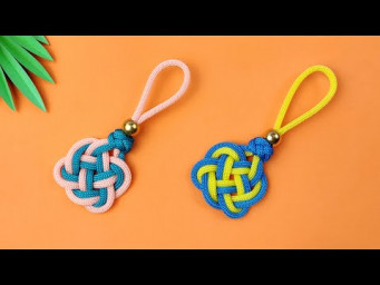 Super Easy Paracord Lanyard Keychain | How to make a Paracord Key Chain Handmade DIY Tutorial #30