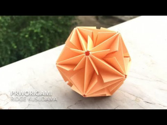 Ridge Kusudama - PrwOrigami Folding Tutorial 【くす玉・折り紙】x ASMR