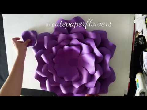 DIY paper flowers template 15