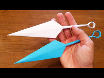 How To Make a Paper Kunai - Ninja Origami