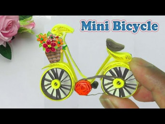 Quilling Mini Bicycle | Paper Quilling Art