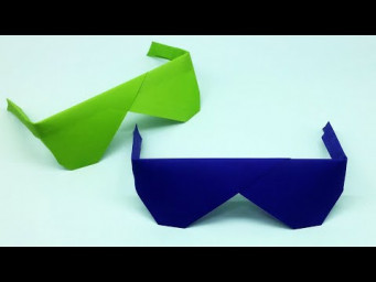 Easy Origami Sunglasses | How To Make Sunglasses With Color Paper | Paper Toy Crafts