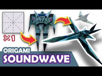 How to make a Transforming DECEPTICON SOUNDWAVE Origami Transformer