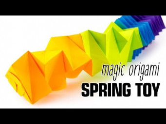 Magic Origami Spring Toy Tutorial (Salman Ebrahimi) - Paper Kawaii
