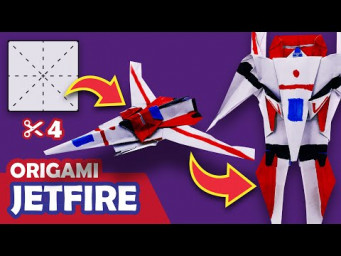 How to make a Transforming Autobot JETFIRE Origami Transformer